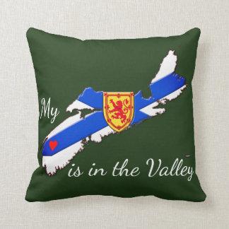 Mein Herz ist das Tal Neuschottland-Kissengrün Kissen