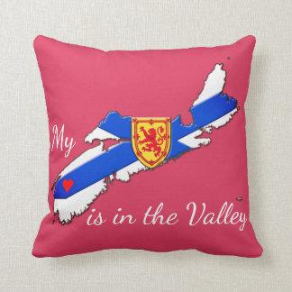 Mein Herz ist das Tal Neuschottland-Kissenrosa Kissen