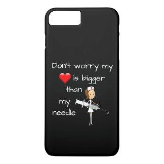 Mein Herz ist größer als meine Nadel iPhone 8 Plus/7 Plus Hülle