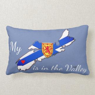 Mein Herz ist im Tal Neuschottland-Kissenblau Lendenkissen