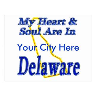 Mein Herz u. Soul sind in Delaware Postkarte