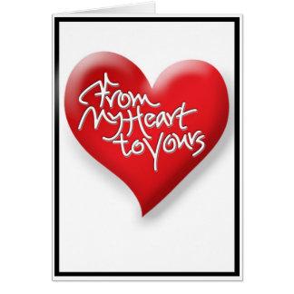 Mein Herz zu Ihrem 1 Karte