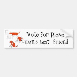 mein Hund. Abstimmung für Rover - der beste Freund Auto Sticker