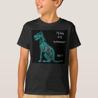 Mein Hund ASS meinen Hausaufgaben-T - Shirt