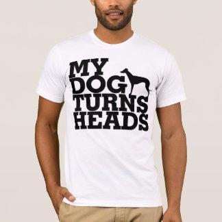 Mein Hund dreht Kopf-Windhund T-Shirt