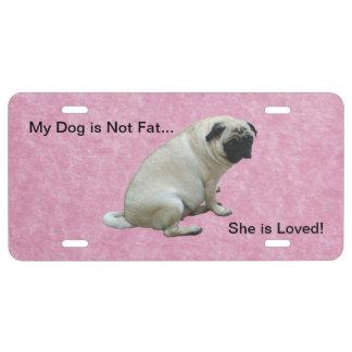 Mein Hund ist nicht fetter Mops US Nummernschild