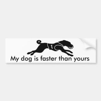 Mein Hund ist schneller Autoaufkleber