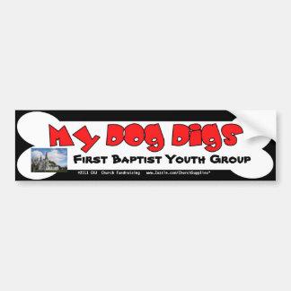 Mein Hundgrabungs-beschaffenAutoaufkleber Autoaufkleber