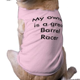 Mein Inhaber ist ein Fass-Rennläufer Shirt