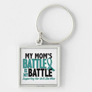 Mein Kampf-auch Mamma-Eierstockkrebs Silberfarbener Quadratischer Schlüsselanhänger