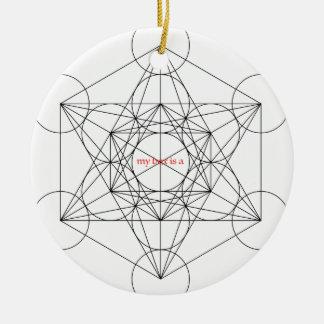 mein Kasten ist… Metatrons Würfel Rundes Keramik Ornament