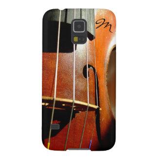 Mein Kasten Violine ~ Monogramm-Samsung-Galaxie-S5 Galaxy S5 Hülle