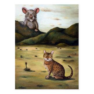 Mein Katzen-schlechtester Albtraum Postkarte