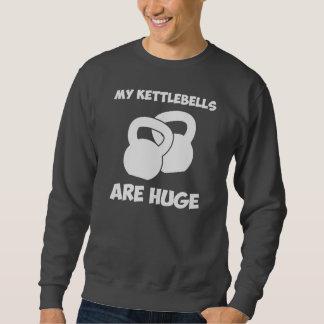 Mein Kettlebells sind enormes Training Sweatshirt