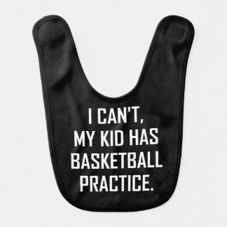 Mein Kind hat die lustige Basketball-Praxis Babylätzchen