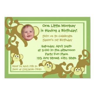 Mein kleiner Affe Personalisierte Ankündigungskarte