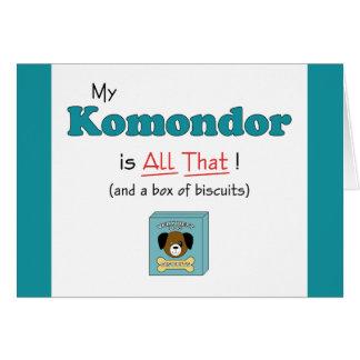 Mein Komondor ist alles das! Karte