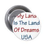 Mein Land ist das Land der Träume USA Button
