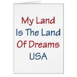 Mein Land ist das Land der Träume USA Grußkarten