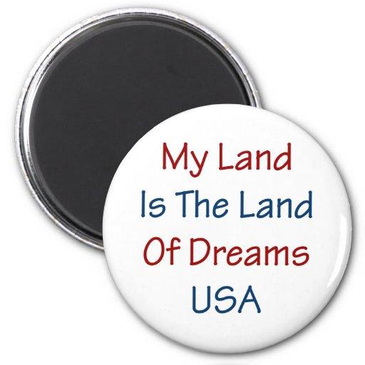 Mein Land ist das Land der Träume USA Runder Magnet 5,7 Cm