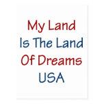 Mein Land ist das Land der Träume USA Postkarte