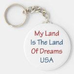 Mein Land ist das Land der Träume USA Schlüsselbänder