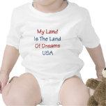 Mein Land ist das Land der Träume USA Baby Strampler