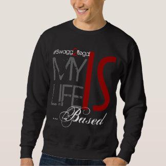 Mein Leben ist basierter schwarzer Crew-Hals Sweatshirt