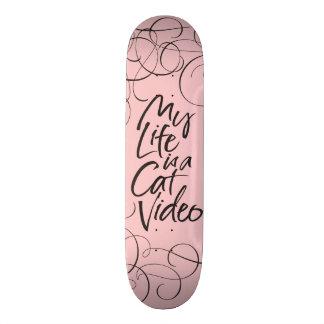 Mein Leben ist ein Katzen-glattes schwarzes Skateboarddeck