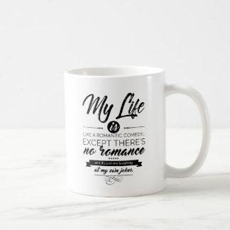 Mein Leben ist wie eine romantische Komödie Kaffeetasse