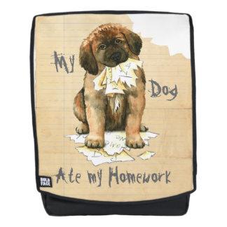 Mein Leonberger aß meine Hausaufgaben Rucksack