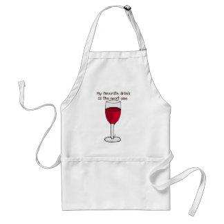 MEIN LIEBLINGSgetränk IST DER FOLGENDE. .wine Druc Schürze