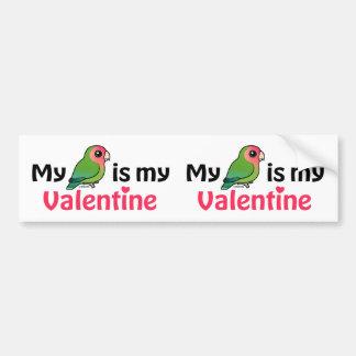 Mein Lovebird ist mein Valentinsgruß Autoaufkleber