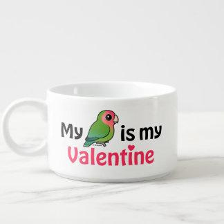 Mein Lovebird ist mein Valentinsgruß Schüssel
