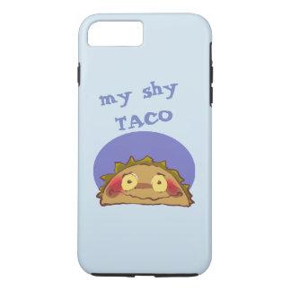 mein lustiger Cartoon des schüchternen Taco iPhone 8 Plus/7 Plus Hülle