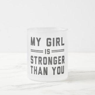 Mein Mädchen ist stärker als Sie Matte Glastasse