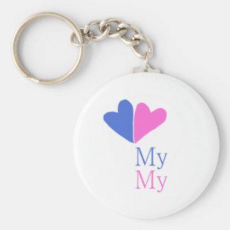 Mein mein Knopfschlüsselring Schlüsselanhänger