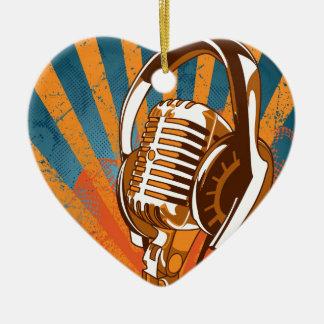 Mein Mic-Mann auf Radio Keramik Ornament