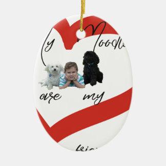 Mein Moodles sind meine besten Freunde Keramik Ornament