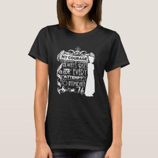 Mein Mut steigt immer Jane Austen-Zitat T-Shirt