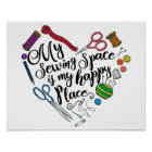 Mein nähender Raum ist mein glückliches Poster