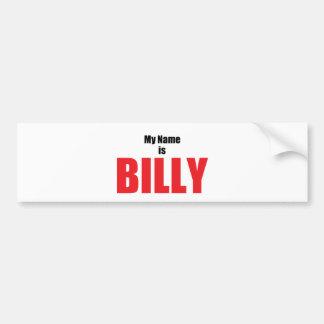 Mein Name ist Billy Autoaufkleber