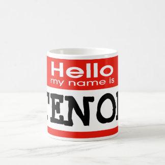 Mein Name ist INHALT Kaffeetasse