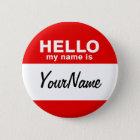 Mein Name ist leeres kundenspezifisches Runder Button 5,7 Cm
