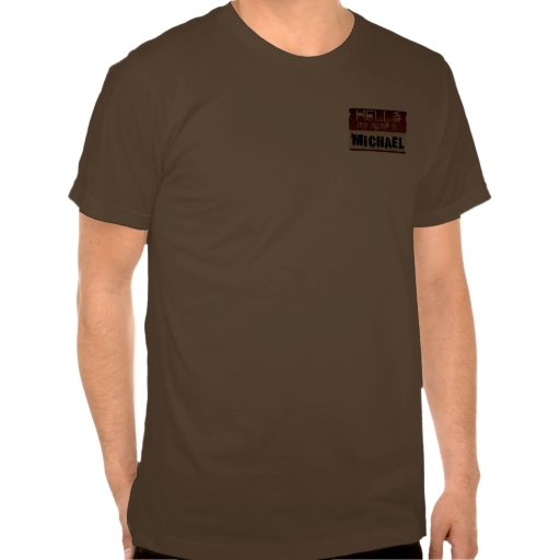 Mein Name ist Michael 2side Hemd