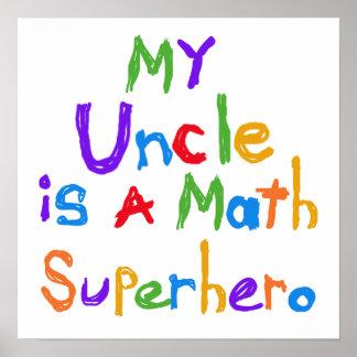 Mein Onkel Math Superhero T-shirts und Geschenke Poster