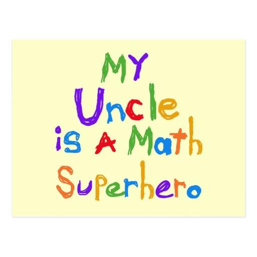 Mein Onkel Math Superhero T-shirts und Geschenke Postkarte