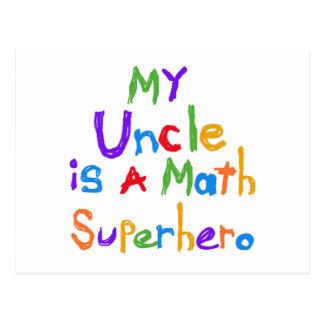 Mein Onkel Math Superhero T-shirts und Geschenke Postkarten