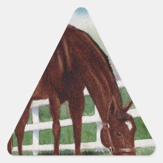 Mein Pferd Dreieckiger Aufkleber