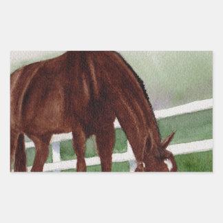 Mein Pferd Rechteckiger Aufkleber